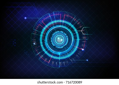 vector fingerprint scan on hi-tech background concept