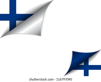Vector - Finland Country Flag Turning Page
