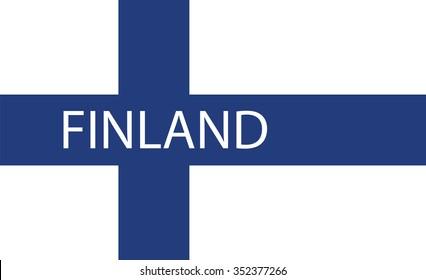 Vector of Finnish flag.