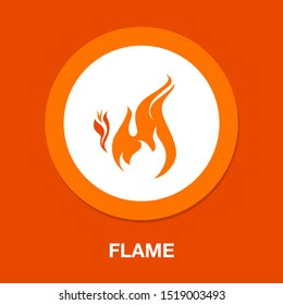 vector fire Flame icon, hot burn symbol
