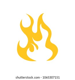 vector fire flame, fire sign -  hot burn symbol isolated