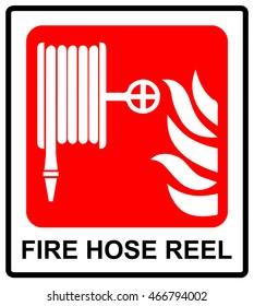 Vector Fire hose reel sign