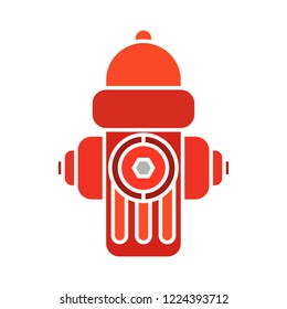 vector fire hydrant icon. Flat illustration of danger alarm. red emergency system isolated on white background. security urgency fire hydrant symbol