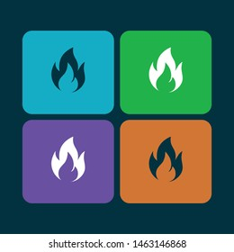 vector fire icon set collection