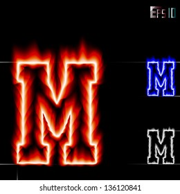 Similar Images Stock Photos Vectors Of Vector Fire Letter W