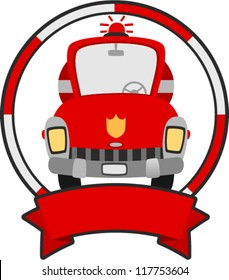 vector fire truck banner  - vehicle banner series