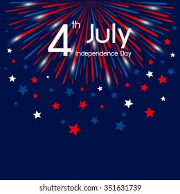 Vector firework 4th of july american independence day