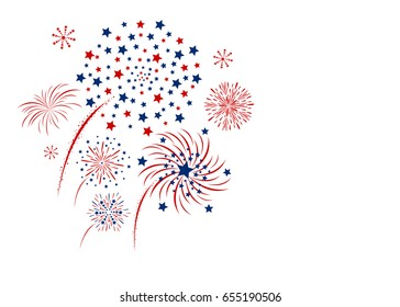 Vector firework design isolated on white background