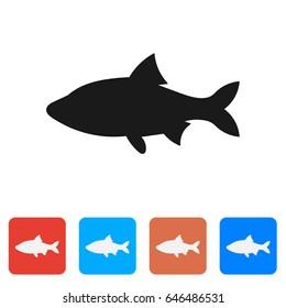 Vector fish icon.