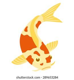 Vector Fish Illustration Isolated On White Background