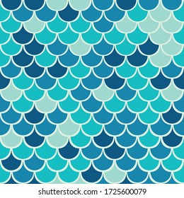 Vector fish scale seamless pattern background.Pefect for packaging, wallpaper, scrapbooking projects.