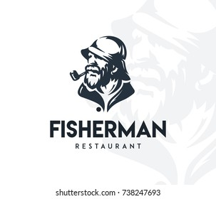 Vector fisherman's silhouette for any use