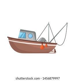Vector of fishery and trawler logo design. Fishery and naval stock vector illustration.