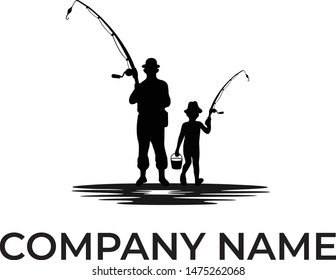 Vector fishing design business logo