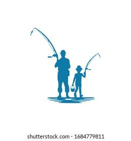 Vector fishing design business logo