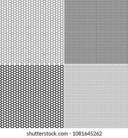 Vector Fishnet pattern in ornamental style. Set vector seamless pattern stockings kapron pattern