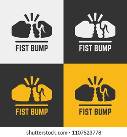 Vector fist bump icon.