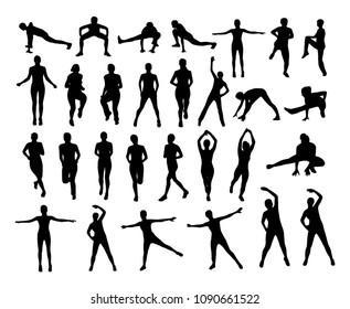 Vector fitness silhouettes