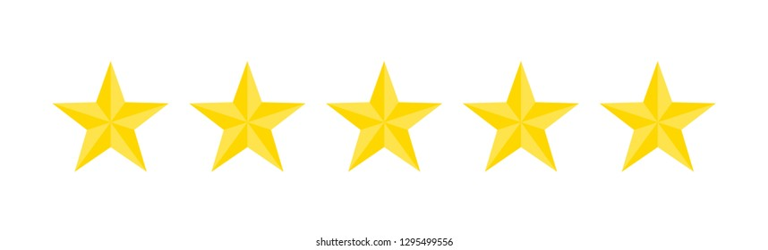 Vector Five Stars icons on a white background