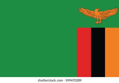 Vector flag of amazing Zambian flag.