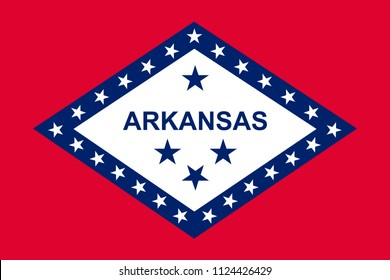 Vector flag of Arkansas state, United States of America.