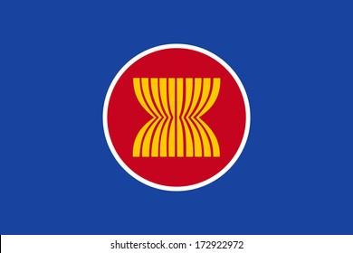 vector flag ASEAN Economic Community (AEC)