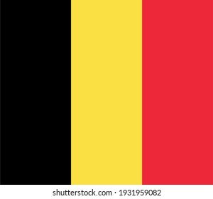 Vector flag of Belgium. Accurate dimensions and official colors. Symbol of patriotism and freedom. This file is suitable for digital editing and printing of any size.