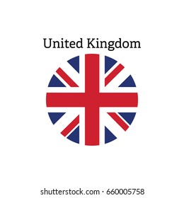 Vector flag button series of all sovereign countries - United Kingdom