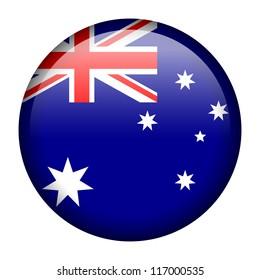 Vector flag button series - Australia