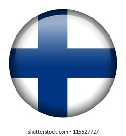 Vector flag button series - Finland