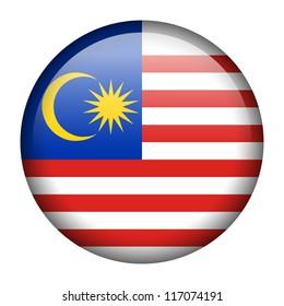Vector flag button series - Malaysia