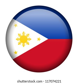 Vector flag button series - Philippines