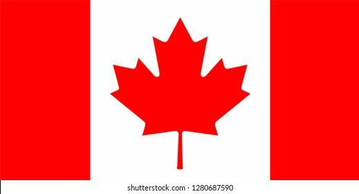 Vector flag of canada