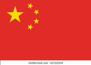 Vector flag of China, EPS 10