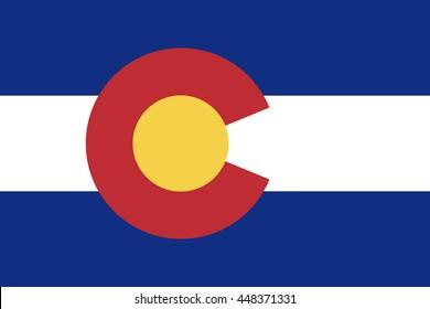 Vector flag of Colorado. State symbol of Colorado.