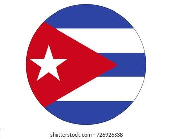 Vector flag of Cuba