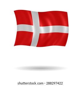 Vector flag of Denmark