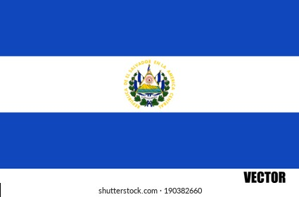 Vector flag of el salvador