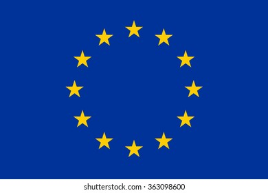 Vector flag of Europe, EU, European Union. National symbol of Europe, EU, European Union.