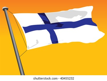 vector flag of finland