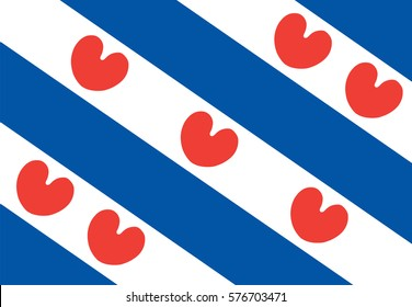 Vector flag of Friesland or Frisia is a province in the northwest of the Netherlands.