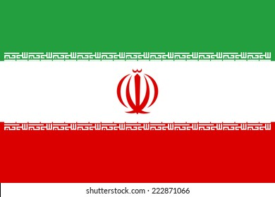 Vector flag of Iran.