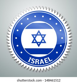 Vector flag label series - Israel