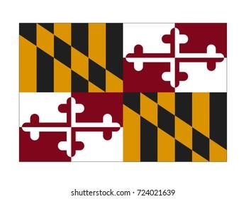 Vector flag of Maryland