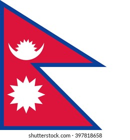 Vector flag of Nepal