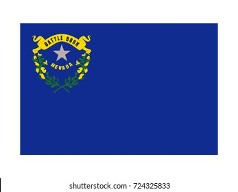 Vector flag of Nevada
