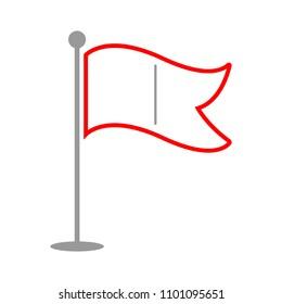vector flag pointer illustration - location sign, marker pin map symbol