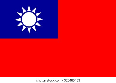 vector flag of  the Republic of China