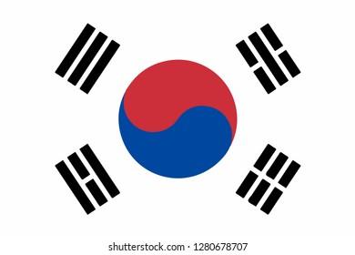 Vector flag of the Republic of Korea