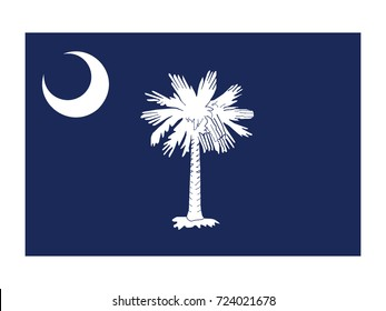 Vector flag of South Carolina